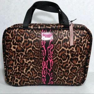 VS LEOPARD MAKEUP BAG COSMETIC HANGING CASE
